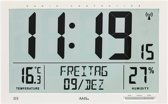 AMS Wandklok Digitaal met datum en graden Zendergestuurd 5887