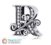 Zilveren bedel Letters |Bedel Sierletter R | Bedels Charms Beads | 925 sterling silver | net zo waardevol als pandora maar dan goedkoop | direct snel leverbaar | Tracelet | Cadeau