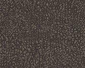 LEDERLOOK BEHANG - Metallic Zwart  - AS Creation Absolutely Chic