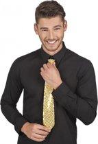 Gouden pailletten stropdas 40 cm