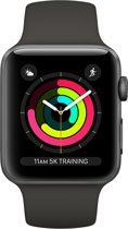 Apple Watch Series 3 Smartwatch 42mm Spacegrijs Aluminium / Grijs Sportband