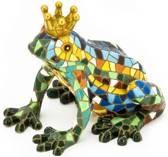Barcino Design kikker prins multi-colored 7 cm