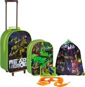 5 delige set TEENAGE MUTANT NINJA TURTLES Trolley Rugzak Zwemtas en meer