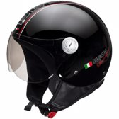Beon Design - Glans zwart - Jethelm - Scooterhelm - Motorhelm - XL / 60