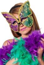 Masker vlinder paars/groen