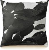 Black Plant Kussenhoes - Katoen/Linnen - 45 x 45 cm
