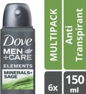 Dove Men+Care Mineral & Sage anti-transpirant - deodorant - 150ml - 6 stuks