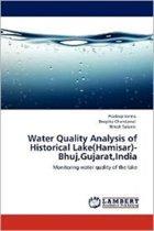 Water Quality Analysis of Historical Lake(hamisar)- Bhuj, Gujarat, India