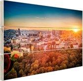 Zonsondergang in Wenen Hout 60x40 cm - Foto print op Hout (Wanddecoratie)