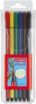 STABILO Pen 68 Viltstiften - Etui á 6 stuks