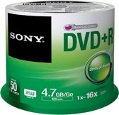 Sony DVD+R Spindle - 50 PCS - Snelheid tot 16x