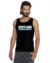 Zwart Scotland supporter mouwloos shirt heren - Schotland singlet shirt/ tanktop L