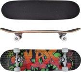"vidaXL - Ovaal skateboard met graffiti design 9-laags esdoorn hout 8"""