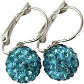 Fako Bijoux® - Oorbellen - Disco Dots - Clip - Turquoise