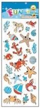Stickervel zeedieren - 31 x 11 cm - dieren stickers