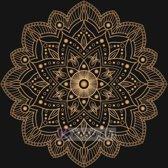 Schilderij - Mandala, bruin