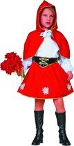 Carnavalskleding Roodkapje Jurkje met rode cape meisje Maat 140