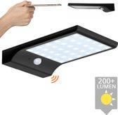 Solar wandlamp Slim met 36 leds en bewegingsmelder Zwart op zonne energie