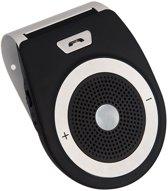 Draadloze Bluetooth Carkit met Spraakbesturing – veilig handsfree bellen en gebeld worden in de auto - Zwart