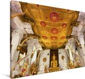 Beeld van de Tand van Boeddha in het Aziatische Sri Lanka Canvas 60x40 cm - Foto print op Canvas schilderij (Wanddecoratie woonkamer / slaapkamer)
