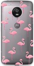 Motorola Moto G5 Plus hoesje Flamingo