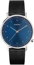 Komono Crafted Lewis Blue horloge dames en heren - zwart - edelstaal