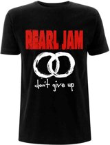 Pearl Jam Heren Tshirt -L- Don't Give Up Zwart