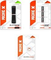 Pacific Control Pack - Standaard grip + Overgrip en Demper - Transparant thumbnail