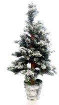 Everlands Toronto Snowy Mini Kunstkerstboom - 60 cm hoog - Zonder verlichting