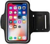 Zwart Sportarmband Hardloopband Hoesje voor iPhone X