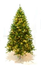 Kunstkerstboom Dasher - PVC - inclusief LED verlichting (400 lampjes) - 240cm - 1590 takken