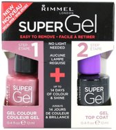 Rimmel London Super Gel Duo Nagellak - 023 Grape Sorbet + Topcoat
