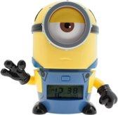 Bulbbotz Wekker Minions Mel 14 Cm Geel