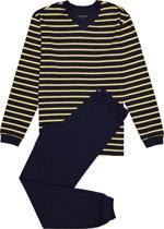 Schiesser heren pyjama - blauw-geel gestreept -  Maat XL