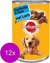 Pedigree Blik Hondenvoer Adult - Lam/Groente/Pasta Homestyle - 12x 400 gram