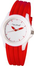 Newave NWH240R Siliconen Polshorloge White/Rood Edition 40mm
