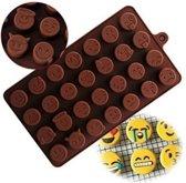 Duo Pakket Ijsblokjes - 2 stuks Chocoladevorm voor Emoji - Grappige gezichtjes - Emoticons - Siliconen Emoji Mal