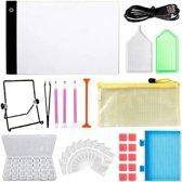 Diamond painting pakket volwassen - Deluxe starterspakket - diamond painting accessoires - a4 led lightpad