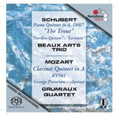 Schubert/Mozart: Quintets - Beaux Arts Trio/Pieterson Quartet -SACD- (Hybride/Stereo/5.1)