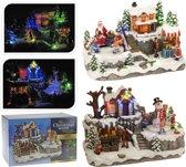 Kerstdorp - Kersthuis - Kersttafereel - Met Led verlichting - Beweging - Sneeuwman