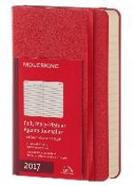 Moleskine Agenda 2017 12 Months Planner Daily Pocket Scarlet Red Hard Cover