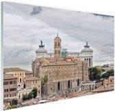 Het oude Rome Glas 90x60 cm - Foto print op Glas (Plexiglas wanddecoratie)