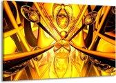Canvas schilderij Abstract | Geel, Goud, Bruin | 140x90cm 1Luik