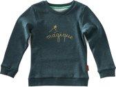 Little Label Meisjes Sweater - groen - Maat 98