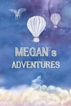 Megan's Adventures: Softcover Personalized Keepsake Journal, Custom Diary, Writing Notebook with Lined Pages