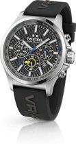 TW Steel TW939 VR46 Pilot Edition - Horloge -  Rubber - 48 mm - Zwart