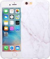 Marmer iPhone 6 en 6S Hoesje Marble Wit Siliconen