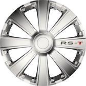 """Wieldoppen 14 inch 4 stuks RS-T zilver wieldoppenset 14"""""""