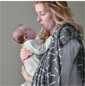 Lodger hydrofiele doek Swaddle Limited Edition Zig Zag print zwart/wit