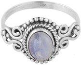 Seren | Ring 925 zilver met maansteen | Maat 16
